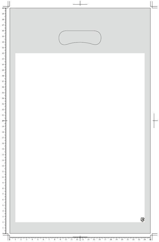 楕円(小判)抜き袋 A4サイズ 1