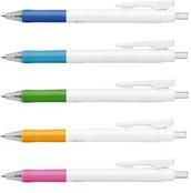 ホワイトクリップ油性ボールペン0.7