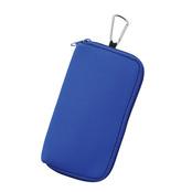 カラビナ付モバイルポーチ ブルー
