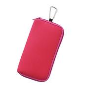カラビナ付モバイルポーチ ピンク