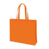 不織布ファスナー付ボックストート(L) オレンジ