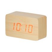 ウッド調LEDクロック(ナチュラル)