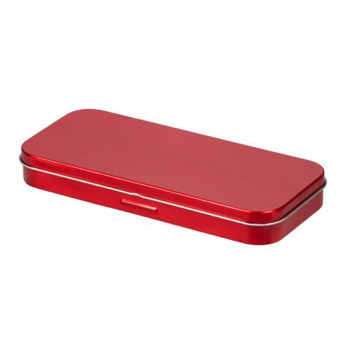 メタリック缶ペンケース(赤) 0