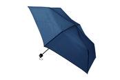 一振りで雨水が切れやすい折り畳み傘 ネイビー