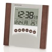 ウッドフレームデジタル電波時計