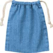 デニム巾着(S) ヴィンテージブルー