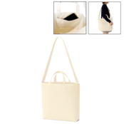 キャンバスWスタイルバッグ インナーポケット付  ナチュラル